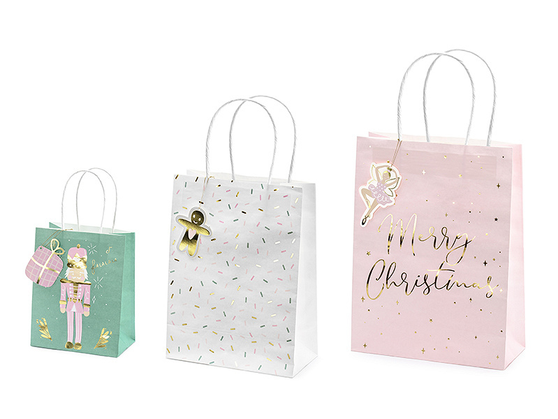 CADEAUTASJES 'MIX DESIGN CHRISTMAS' (3ST)