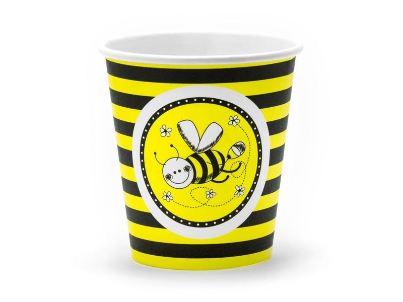 PAPIEREN BEKERS 'BEE' (6ST)