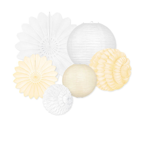 LAMPIONNEN PAKKET (S) 'WHITE & IVORY' (10ST)