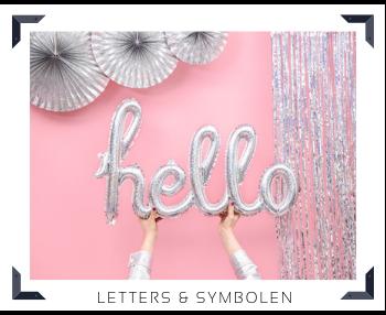 Folie Ballon Letters & symbolen Feestartikelen feestversiering online kopen hip, trendy & stylish