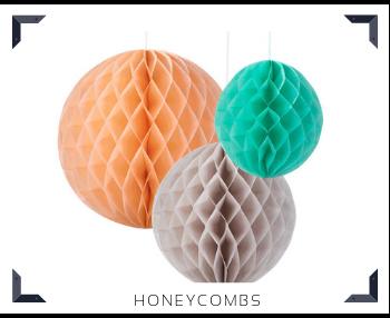 Papieren Honeycombs Bol Slingers Feestartikelen feestversiering online kopen hip, stylish & trendy
