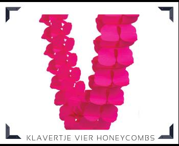 papieren Klavertje vier Honeycombs slingers Feestartikelen feestversiering online kopen hip, trendy & stylish