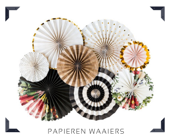 Papieren Waaiers Paper Fans slingers Feestartikelen feestversiering online kopen hip, trendy & stylish
