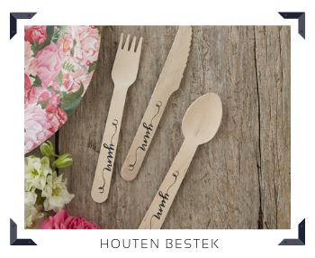 Houten Bestek Feestartikelen feestversiering online kopen hip, stylish & trendy