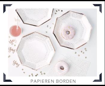 Papieren Borden Feestartikelen feestversiering online kopen hip, stylish & trendy
