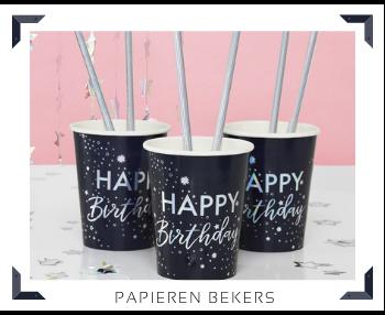 Papieren Bekers Feestartikelen feestversiering online kopen hip, stylish & trendy