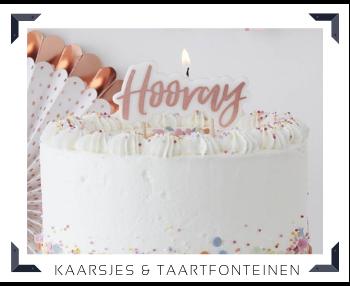 Kaarsjes en Taartfonteinen Sweettable Feestartikelen online kopen hip, stylish & trendy