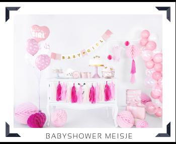 Babyshower Meisje feestartikelen en feestversieringen kopen bij PretaPret altijd hip en trendy