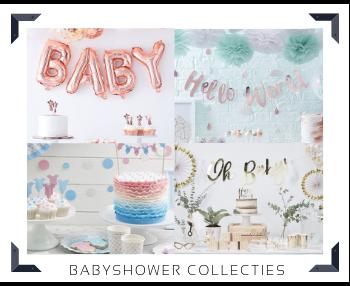 Babyshower Collecties van bekende merken feestversieringen en feestartikelen kopen bij PretaPret altijd hip en trendy