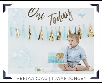 1 Jaar Jongen Verjaardag Kinderfeest Feestartikelen online kopen hip, stylish & trendy