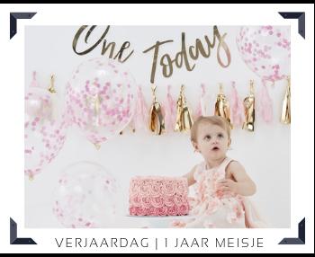 1 Jaar Meisje Verjaardag Kinderfeest Feestartikelen online kopen hip, stylish & trendy