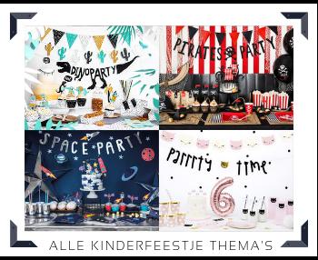 Kinderfeestje Verjaardag Thema Feestversieringen Feestartikelen kopen bij PretaPret altijd hip en trendy