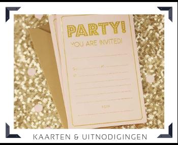Kaarten Uitnodigingen Feestartikelen online kopen hip, trendy & stylish