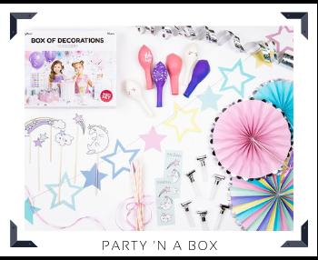 Party in a Box Partyboxen Feestpakketten Feestartikelen feestversiering kopen bij PretaPret altijd hip, trendy & stylish