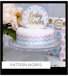 Pattern Works Babyshower versiering decoratie Collecties van merk Ginger Ray talking Tables Meri Meri Hootyballoo Neviti feestartikelen online kopen