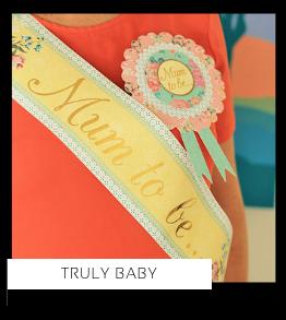 Truly Baby Babyshower versiering decoratie Collecties van merk Ginger Ray talking Tables Meri Meri Hootyballoo Neviti feestartikelen online kopen
