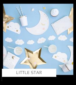 Little Star Babyshower versiering decoratie Collecties van merk Ginger Ray talking Tables Meri Meri Hootyballoo Neviti Partydeco feestartikelen online kopen