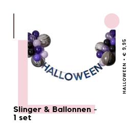 Slinger Ballonnen Sweet table Halloween feestartikelen en feestversiering van het merk Ginger Ray bij PretaPret