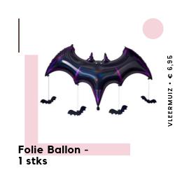 Folie Ballon Vleermuis Halloween feestartikelen en feestversiering van het merk Ginger Ray bij PretaPret