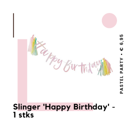 Slinger Happy Birthday Pastel Birthday Party van Ginger Ray hippe feestartikelen en feestversiering