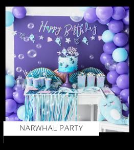 Narwhal Party Narwal Zeemeermin kinderfeestje verjaardag thema feestartikelen en feestversiering van het merk Partydeco kopen bij PretaPret altijd hip en trendy
