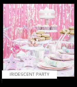 Iridescent Iriserend Holografisch Party feestartikelen en feestversiering Disco Kinderfeestje van het merk Partydeco kopen bij PretaPret altijd hip & trendy
