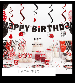 Ladybug Lieveheersbeestje Kinderfeestje meisje verjaardag thema Feestversiering en Feestartikelen van het merk Talking Tables Meri Meri Ginger Ray My Little Day Partydeco kopen bij PretaPret altijd hip en trendy