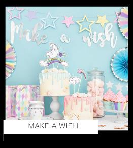 Make a Wish Kinderfeestje Feestversiering en Feestartikelen kopen bij PretaPret altijd hip en trendy