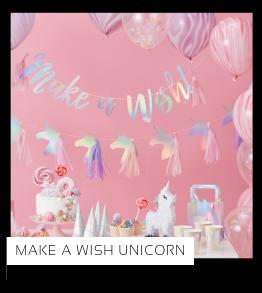 Make a Wish Unicorn merk Ginger Ray Kinderfeestje Feestversiering en Feestartikelen kopen bij PretaPret altijd hip en trendy