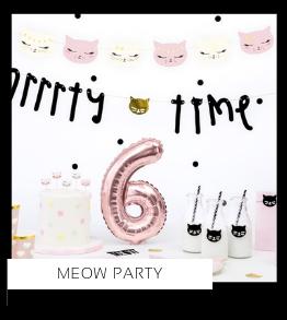 Meow Katten Poezen Party Kinderfeestje feestartikelen en feestversiering koop je bij PretaPret altijd hip en trendy