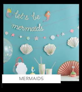 Mermaids Zeemeerminnen Vissen kinderfeestje verjaardag thema feestartikelen en feestversiering van het merk Meri Meri My Little Day Ginger Ray Partydeco kopen bij PretaPret altijd hip en trendy