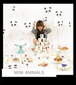 Mini Animals Kleine knuffeldiertjes Konijnen Vossen kinderfeestje verjaardag thema feestartikelen en feestversiering van het merk Meri Meri My Little Day kopen bij PretaPret altijd hip en trendy
