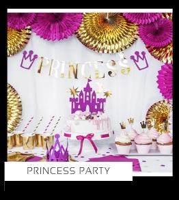 Princess Prinsessen Kinderfeestje verjaardag thema Feestartikelen en Feestversiering van het merk Partydeco kopen bij PretaPret altijd hip en trendy