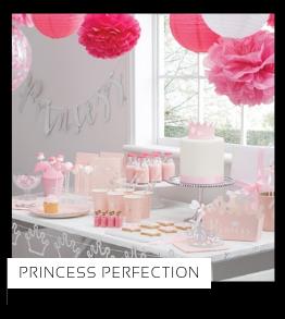 Princess Perfection Prinsessen Kinderfeestje verjaardag thema feestartikelen en feestversiering merk Ginger Ray Kinderfeestje Feestversieringen kopen bij PretaPret altijd hip en trendy