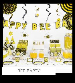 Bee Bijen thema feestartikelen en feestversiering van het merk Partydeco kopen bij PretaPret altijd hip en trendy