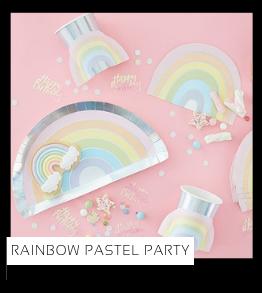 Rainbow Party Pastel Regenboog Zon kinderfeestje verjaardag thema feestartikelen en feestversiering van het merk Ginger Ray Meri Meri My Little Day Partydeco kopen bij PretaPret altijd hip en trendy