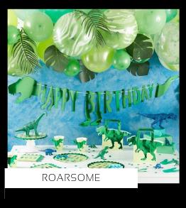 Roarsome  Dinosaurus Kinderfeestje verjaardag thema feestartikelen en feestversiering van het merk Ginger Ray kopen altijd hip en trendy bij PretaPret