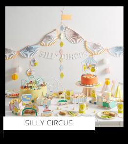 Silly Circus Clown kinderfeestje verjaardag thema feestartikelen feestversiering van het merk Meri Meri My Little Day Partydeco kopen bij PretaPret altijd hip en trendy