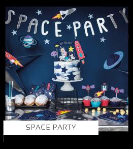 Space Party Astronaut Kinderfeestje thema  Jongen feestartikelen en feestversiering kopen bij PretaPret altijd hip en trendy