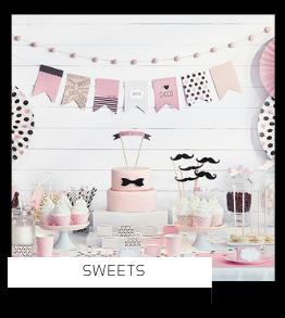 Sweets Chocolade Zoet Snoep Kinderfeestje thema feestartikelen en feestversiering van het merk Partydeco kopen bij PretaPret altijd hip en trendy