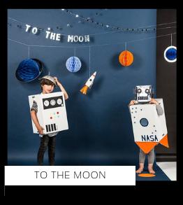 To the Moon Maan Ruimte Space Kinderfeestje verjaardag thema feestartikelen feestversiering van het merk Meri Meri My Little Day Partydeco kopen bij PretaPret altijd hip en trendy