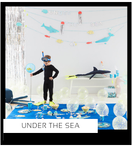 Under the Sea Zee Water Oceaan Kinderfeestje thema feestartikelen en feestversiering van het merk Meri Meri Ginger Ray Partydeco My Little Day Talking Tables altijd hip en trendy PretaPret
