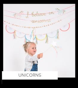 Unicorns Eenhoorn Paarden Sprookje kinderfeestje verjaardag thema feestartikelen feestversiering van het merk Meri Meri My Little Day Partydeco kopen bij PretaPret altijd hip en trendy