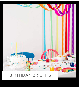 Birthday Brights Happy Birthday Regenboog kinderfeestje meisje verjaardag thema Feestversiering en Feestartikelen van het merk Talking Tables Meri Meri Ginger Ray My Little Day Partydeco kopen bij PretaPret altijd hip en trendy