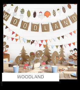 Woodland in het Bos thema Bosdieren feestversiering en feestartikelen en Kinderfeestje feestartikelen van het merk Partydeco kopen bij PretaPret altijd hip en trendy!
