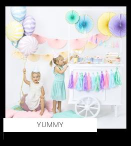 Snoep Yummy Pastel Kinderfeestje feestartikelen en feestversiering kopen van het merk Partydeco bij PretaPret altijd hip en trendy