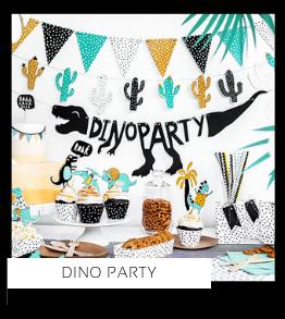 Dino Feestversiering en Feestartikelen van het merk Partydeco kopen bij PretaPret altijd hip en trendy