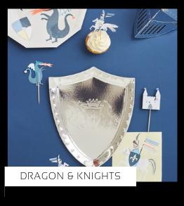 Dragon Knights Draken Ridders thema kinderfeestje verjaardag feestartikelen en feestversiering kopen van het merk Meri Meri bij PretaPret altijd hip en trendy