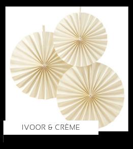 Crème Ivoor Kleur Feestversiering Feestartikelen online kopen stylish, hip & trendy