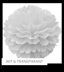Wit Transparant Kleur Feestversiering Feestartikelen online kopen stylish, hip & trendy